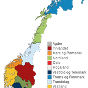 From January 1st 2020, Norway went from 19 to 11 counties (regions)